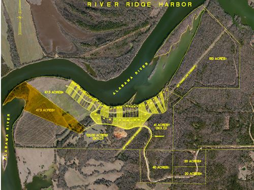 47.5 Acres-West-River Ridge Harbor : Montgomery : Alabama