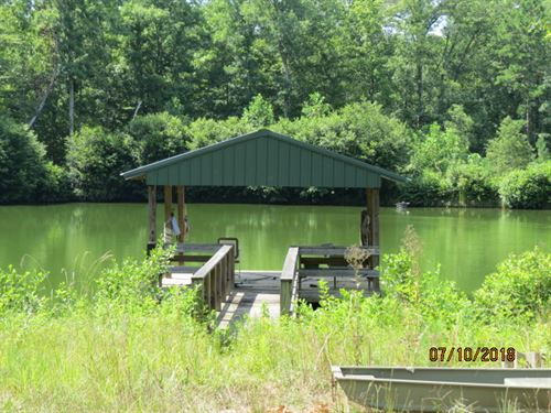 A Very Nice Pond & Hunting : Rockford : Coosa County : Alabama