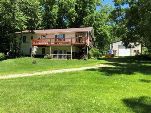Secluded Land W/ Raised Ranch : Woodman : Grant County : Wisconsin