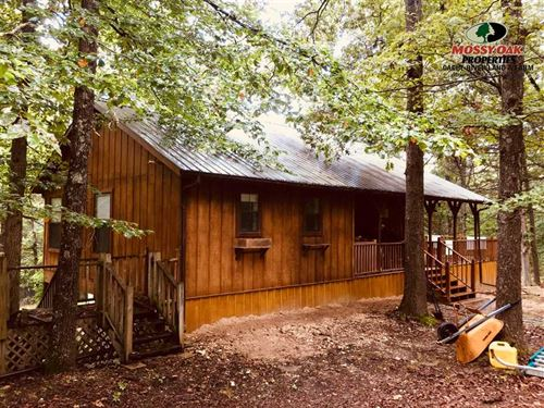 Cabin in The Woods on 35 Acres, Be : Mount Pleasant : Izard County : Arkansas
