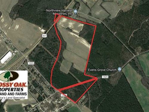 173.16 Acres of Residential Farm : Laurinburg : Scotland County : North Carolina