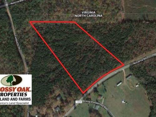 11.63 Acres of Recreational Land : Macon : Warren County : North Carolina