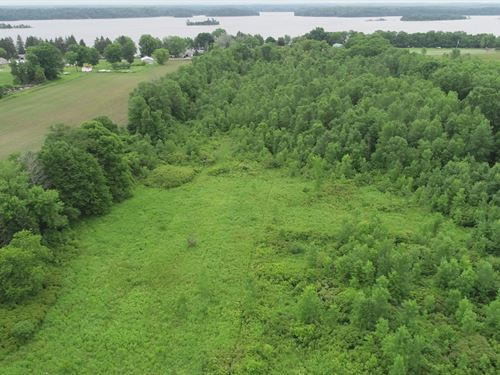 25 Acres On Black Lake : Morristown : Saint Lawrence County : New York