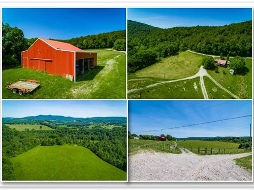 86+ Ac Wolf River Frontage, Barns : Pall Mall : Fentress County : Tennessee