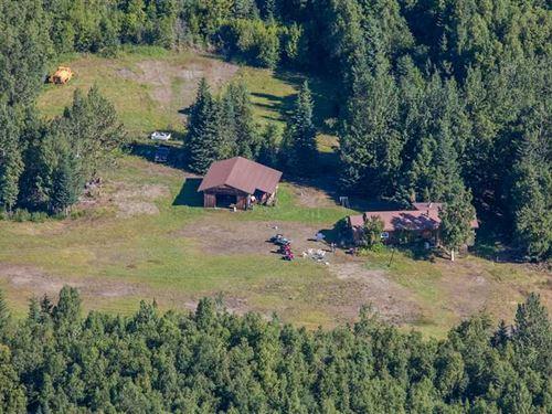 168 Acre Homestead With Air Strip : Homer : Kenai Peninsula Borough : Alaska