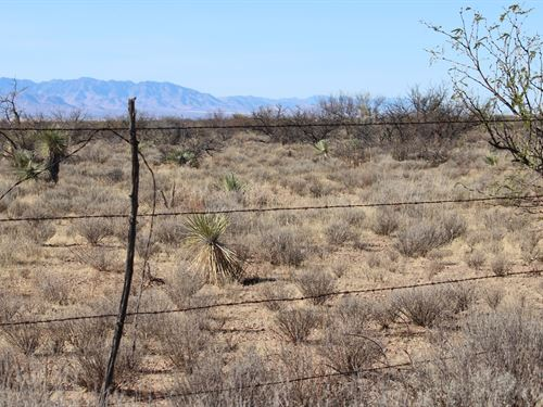 20 Acre Lot Water Nearby Electric : Benson : Cochise County : Arizona