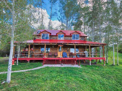 Lakefront Log Cabin Mountain : Montrose : Colorado