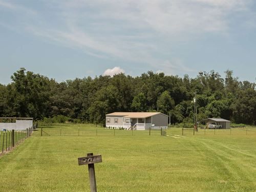 Nice Mobile Home 20 Acres Suwannee : McAlpin : Suwannee County : Florida