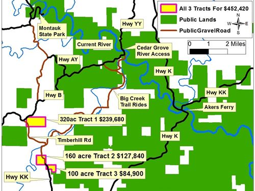 Land Texas County Missouri, 580 : Hartshorn : Texas County : Missouri