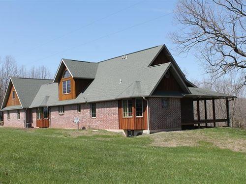 Missouri Ozark Rustic Ranch Home : Mansfield : Douglas County : Missouri