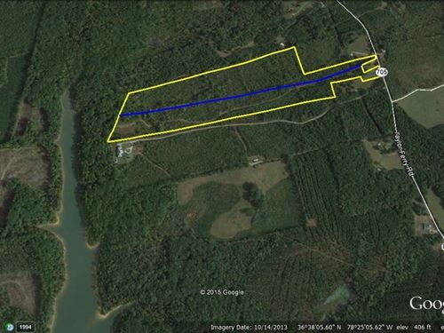 26 Acres Lakefront Buggs Island : Boydton : Mecklenburg County : Virginia