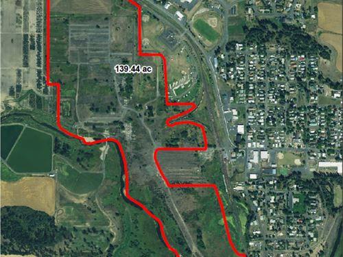 Commercial Development Acreage : Potlatch : Latah County : Idaho