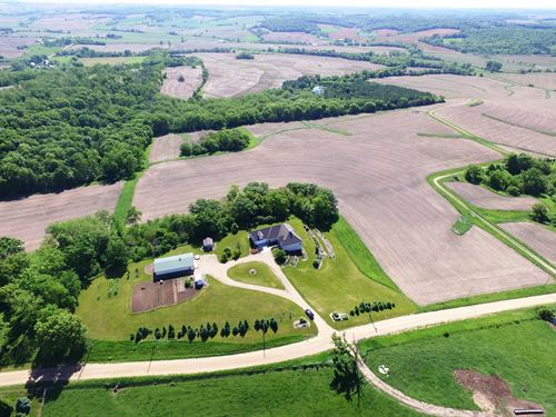Home Crop Land & Timber Stockton : Stockton : Jo Daviess County : Illinois