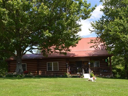 Log Home on 25+ Acres in Ennice, NC : Ennice : Alleghany County : North Carolina