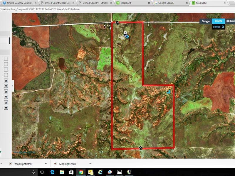 Buffalo Oklahoma 240 Acre Ranch : Buffalo : Harper County : Oklahoma