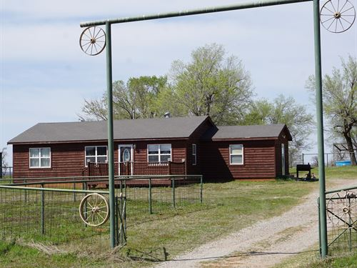 Ranch Style Home 38 Acres, Central : Chandler : Lincoln County : Oklahoma