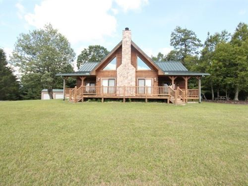 Log Home Large Acreage Estate : Troutdale : Grayson County : Virginia