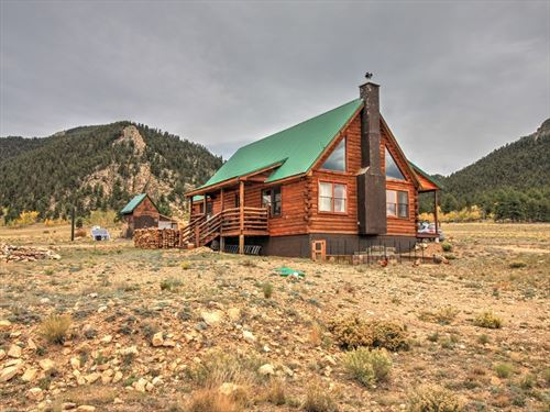 Amazing Log Home on 10 Acres : Hartsel : Park County : Colorado