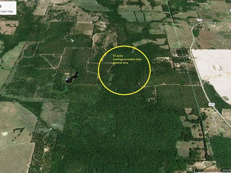 52 Acres East Texas Hunting Land : Ranch for Sale : Deport : Lamar