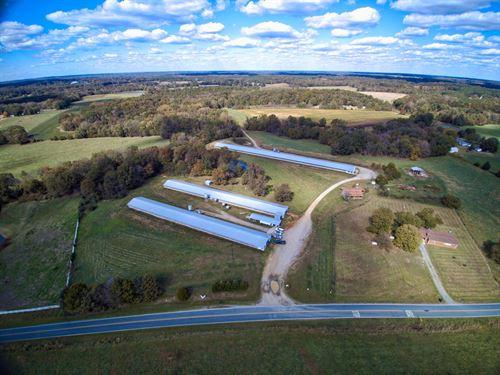 38 Acre Poultry Farm Home Waxhaw : Waxhaw : Union County : North Carolina
