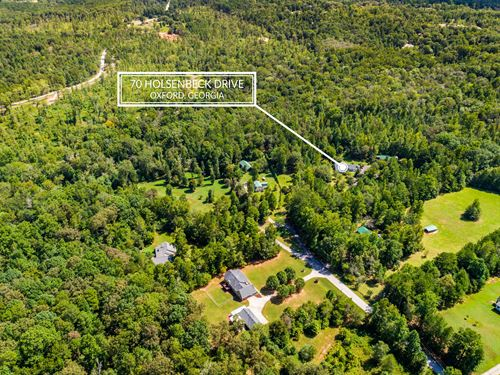 Updated Ranch Home On 31+ Acres : Oxford : Newton County : Georgia