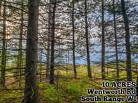 10 Acres Near Lake Superior : South Range : Douglas County : Wisconsin