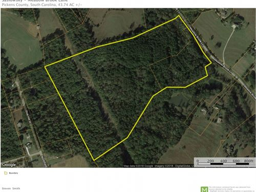 43.74 Acres Gr : Pickens : South Carolina