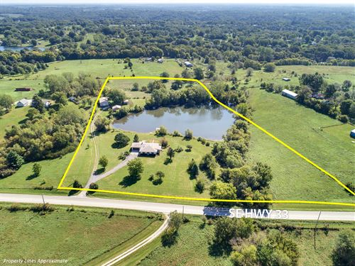 4 Bedroom Ranch Home On 11 Acres : Holt : Clinton County : Missouri