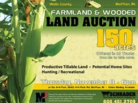 Farmland & Wooded Land Auction : Bluffton : Wells County : Indiana