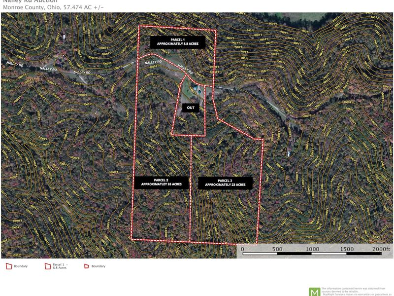 Woodsfield Ohio Map.Nalley Rd 57 Acres Ranch Auction Woodsfield Monroe County