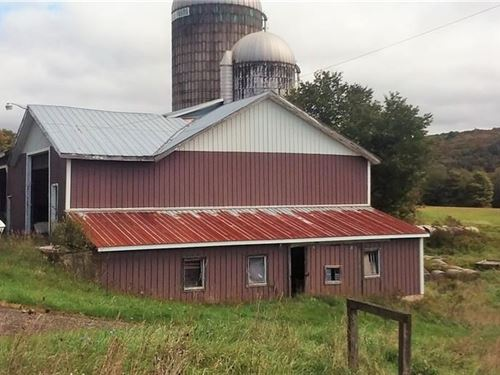 63 Acre Farm Crops & Pastures : Pitcher : Chenango County : New York