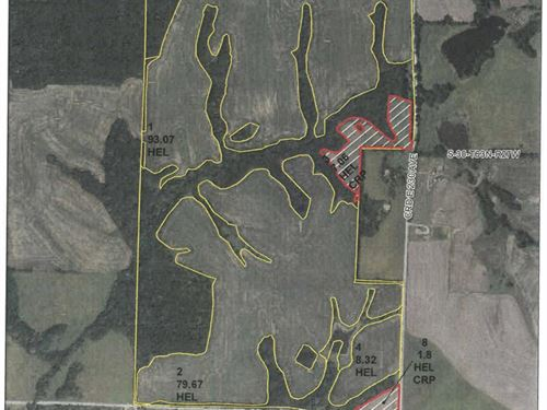 293 Acres M/L Row Crop, Crp Hunting : Bethany : Harrison County : Missouri