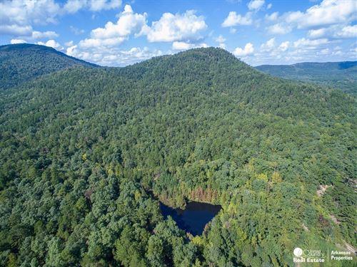 Waterfront Land Mountain Views : Mena : Polk County : Arkansas