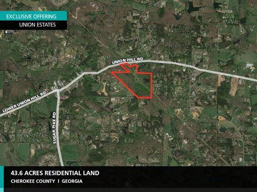 43.6 Acres Union Estates : Alpharetta : Cherokee County : Georgia