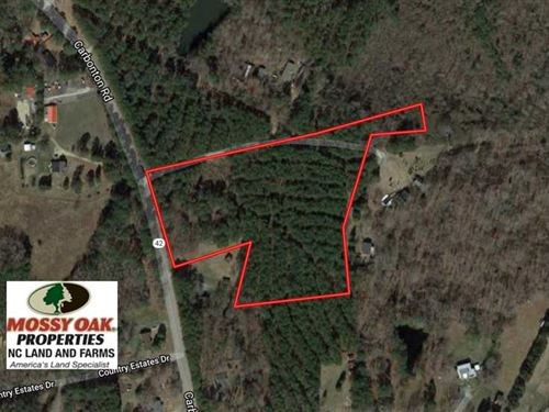 11.2 Acres of Development OR Farm : Sanford : Lee County : North Carolina