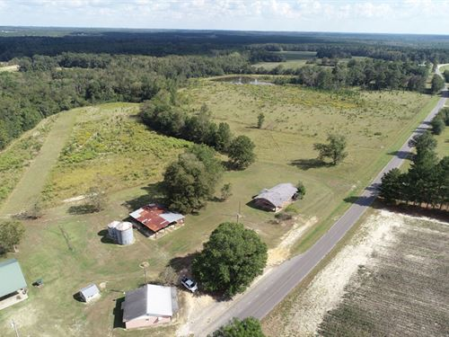 58 Acres With Pond, Pasture, Timber : Millen : Jenkins County : Georgia