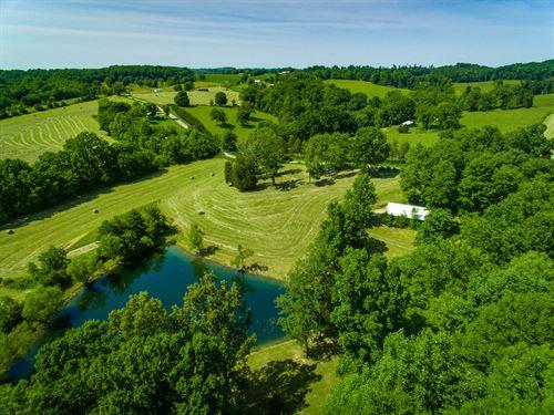 16Ac Farm W/Rustic Hm, Barn, Pond : Gamaliel : Monroe County : Kentucky
