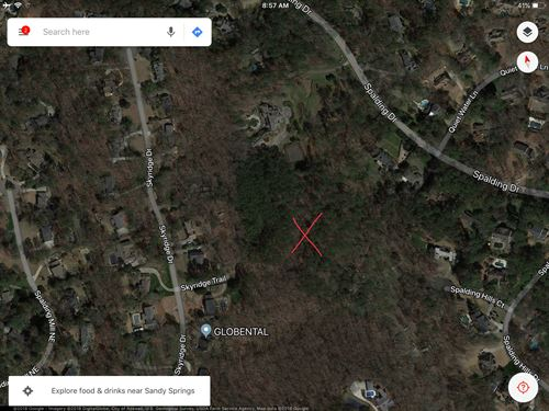 11.5 Acre Estate Lot Spalding Drive : Atlanta : Fulton County : Georgia