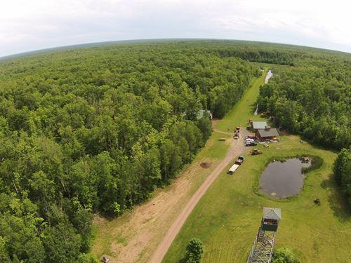 Hunting Acreage, Log Cabin, Pine : Willow River : Pine County : Minnesota