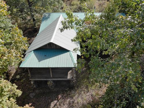 Historic Cabin 36 Acres Hunting : Marshall : Searcy County : Arkansas