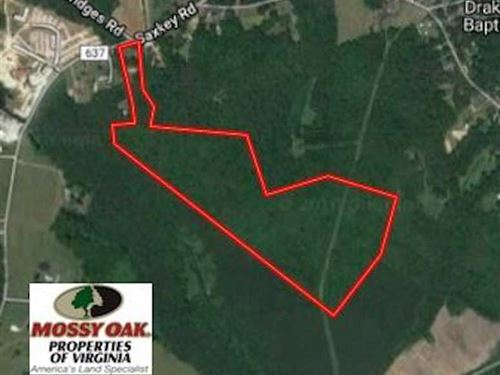 Reduced, 52 Acres of Residential : Drakes Branch : Charlotte County : Virginia