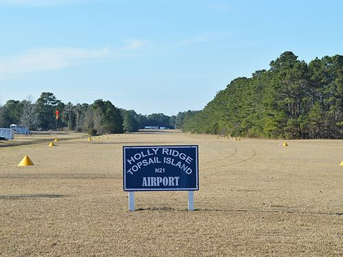 22 Acre Coastal NC Property : Holly Ridge : Onslow County : North Carolina