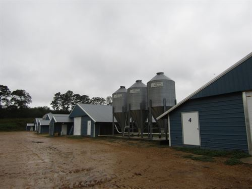 49 Acres With 4 Chicken Houses In : Mize : Smith County : Mississippi