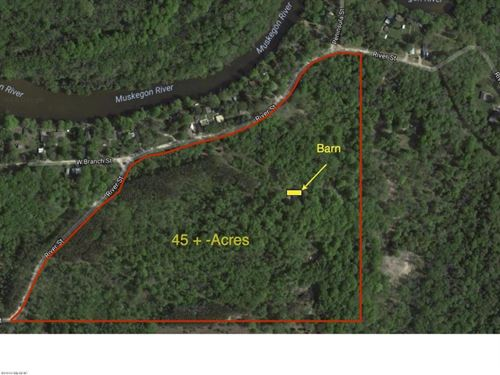 45 Acres Across From Muskegon River : Evart : Osceola County : Michigan