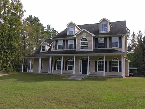 Home & 95 Acres : Keysville : Burke County : Georgia