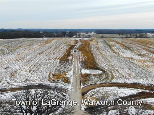 60 Ac Prime Farmland, Walworth Co : Little Prairie : Walworth County : Wisconsin