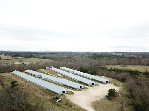 4 House Broiler Farm : Rainsville : DeKalb County : Alabama