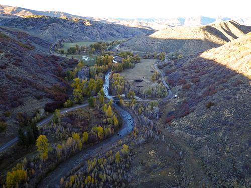 Indian Run On The South Fork : Craig : Routt County : Colorado