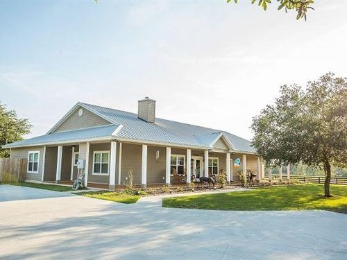 Amazing Hobby Farm Custom Home : Live Oak : Suwannee County : Florida