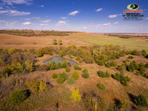 80 Acres in Cedar Vale, KS : Cedar Vale : Cowley County : Kansas